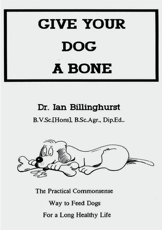 Give your dog a bone - barf diet book cover